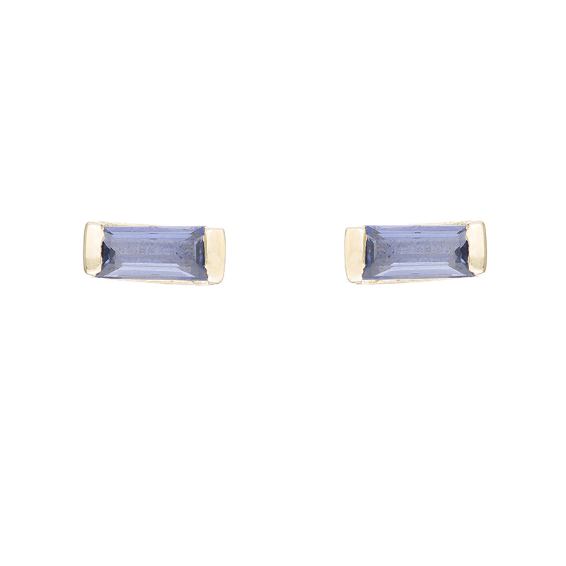 Greece Gemstone Baguette Studs