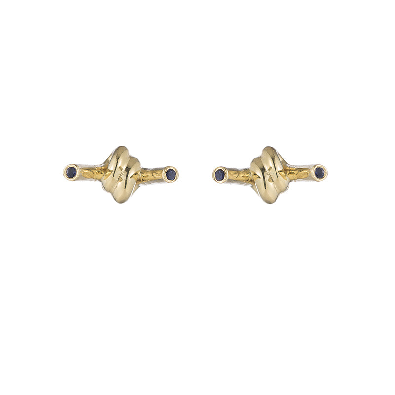 Greece Boat Knot Studs-Earrings-Ashley Schenkein Jewelry Design