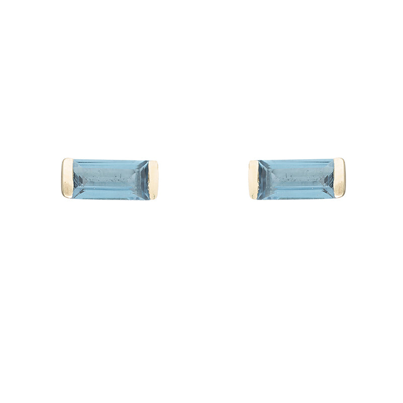 Greece Gemstone Baguette Studs-Earrings-Ashley Schenkein Jewelry Design