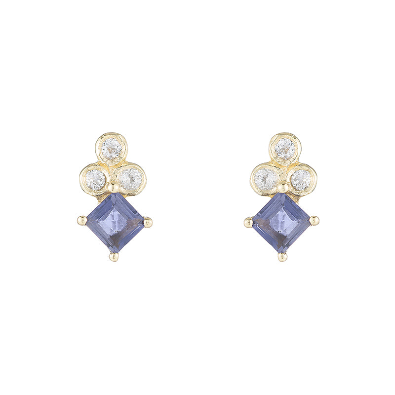 Greece Princess Gemstone Studs-Earrings-Ashley Schenkein Jewelry Design