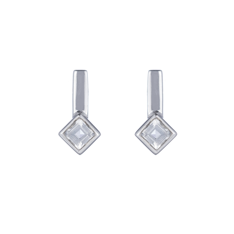 Greece Princess Gemstone Bar Earrings-Earrings-Ashley Schenkein Jewelry Design