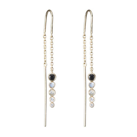 Jaipur Gemstone Threader Earrings