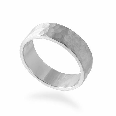 Men's Hammered Wedding Band