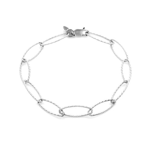 Croatia Rectangle Diamond Cut Link Bracelet