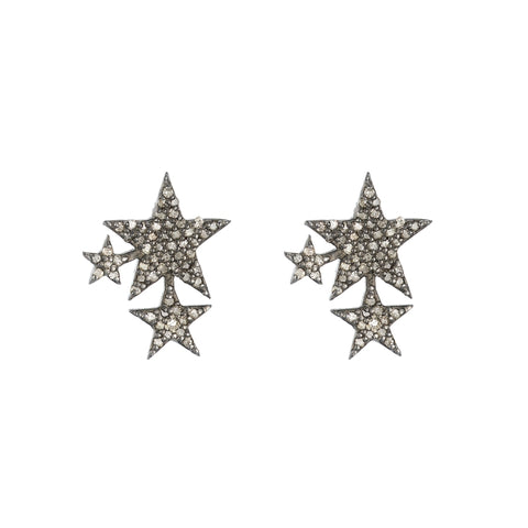 Brooklyn Diamond Pavé Triangle Slice Earrings