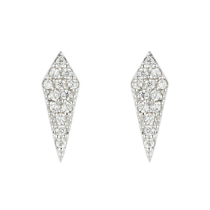 Kyoto Diamond Shaped Pavé Studs