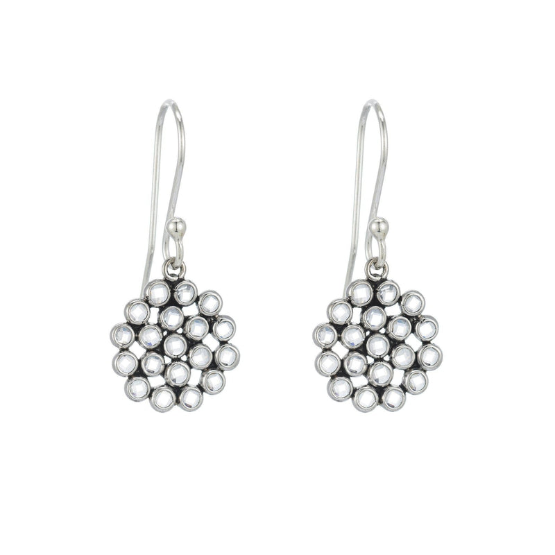 Kyoto White Topaz Slice Drop Earring