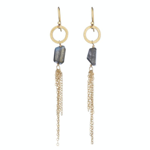 Greece Pavé Evil Eye Gemstone Earrings