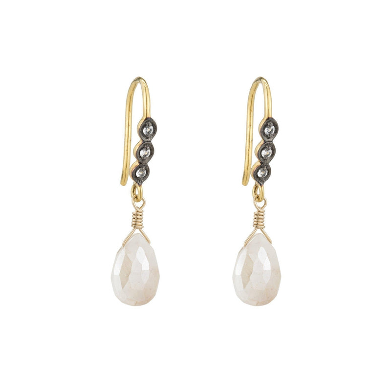 Havana Pink Moonstone Drop Earrings