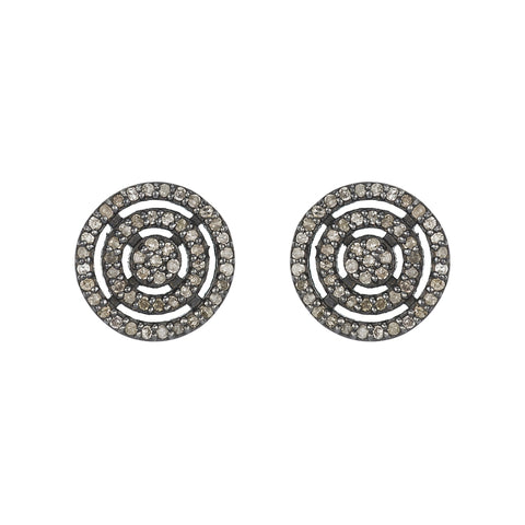 Brooklyn Flat Disc Diamond Earring Studs