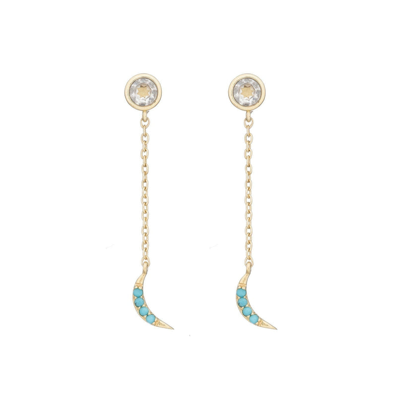 Tulum Crescent Moon Dangle Earring