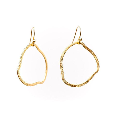 Barcelona Organic Circle Mini Earrings