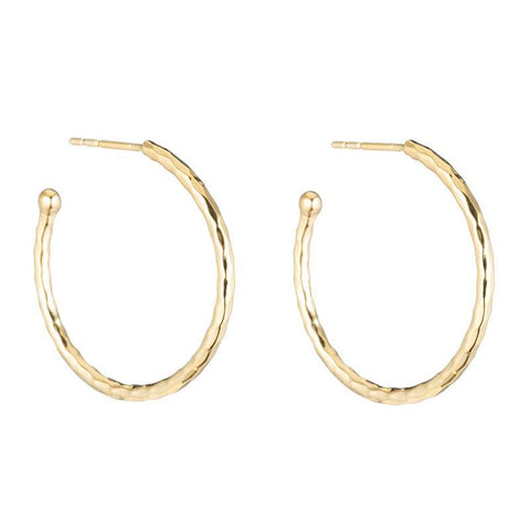 Cartagena Hammered Hoop Earring