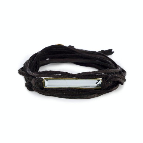 Havana Leather Wrap Bracelet