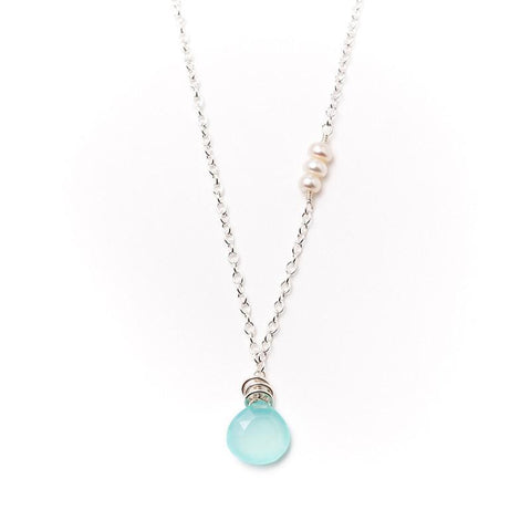 Paris Chalcedony and Pearl Necklace