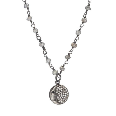 Brooklyn Man in the Moon Diamond Necklace