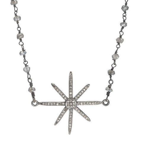 Brooklyn North Star Diamond Necklace