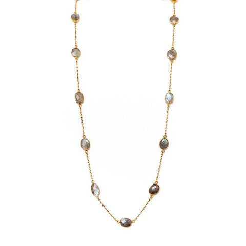 Brooklyn Large Diamond Disc Necklace