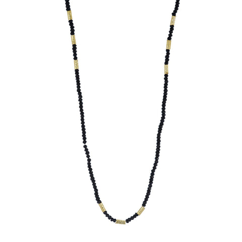 Kyoto Long Gemstone and Gold Bead Necklace