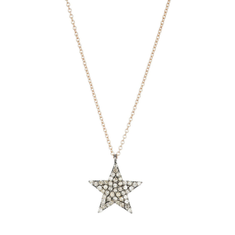 Brooklyn Diamond Five Point Star Necklace-Necklace-Ashley Schenkein Jewelry Design