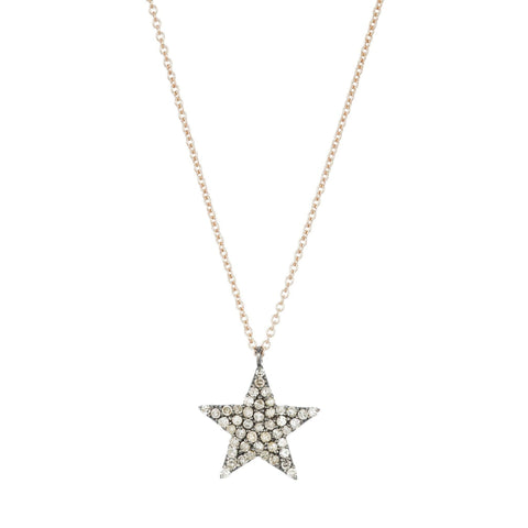 Brooklyn Diamond Pavé Elongated Moon Necklace