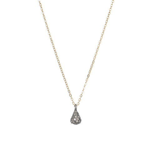 Brooklyn Small 3-D Teardrop Diamond Necklace