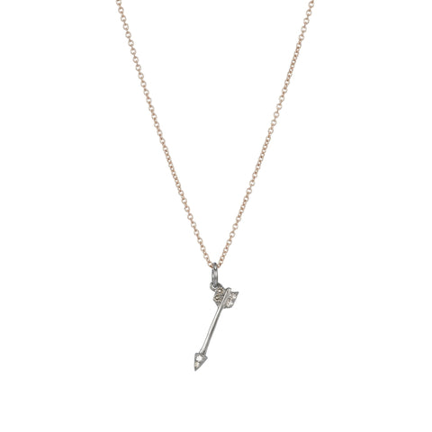 Brooklyn Diamond Feather Necklace