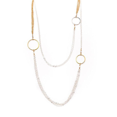 Buenos Aires Mixed Circle Necklace