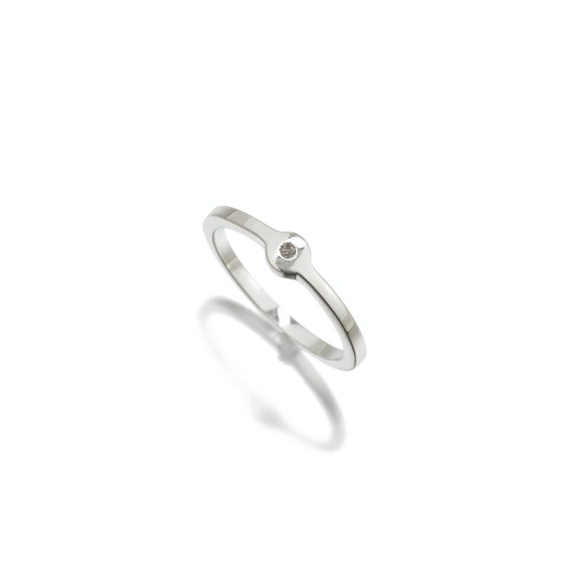 Havana Silver Diamond Ring