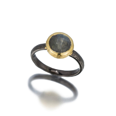 Kyoto Oxidized Tree Branch Gemstone Ring