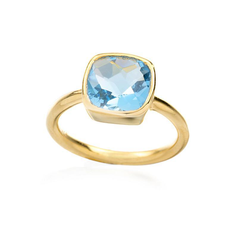 Positano Bezel Ring-Rings-Ashley Schenkein Jewelry Design