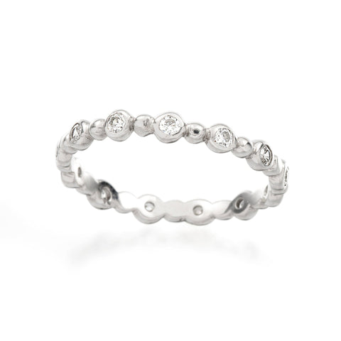Fishtail Diamond Eternity Wedding Band