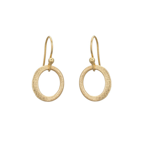 Boulder Brushed Oval Mini Earrings