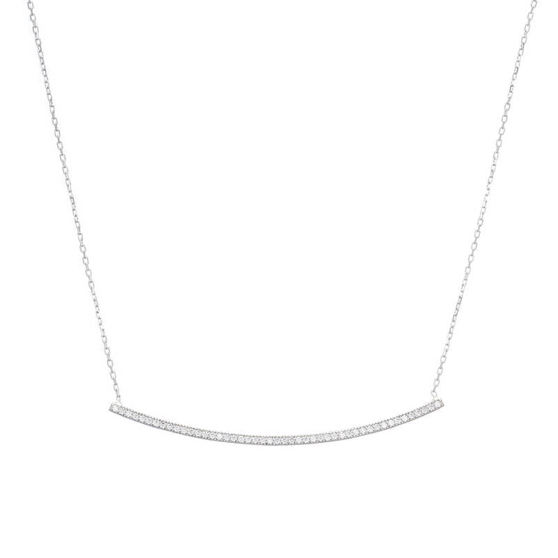 Pavé Bar Necklace-Necklace-Ashley Schenkein Jewelry Design