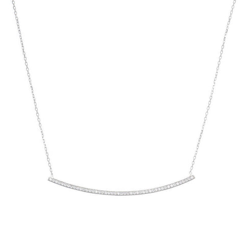 Teardrop Sterling Silver Bridal Necklace