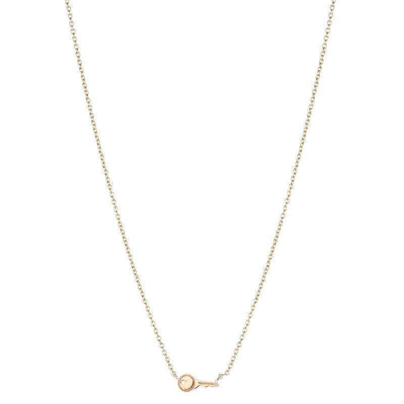 Solid Gold Tiny Key Necklace, 14k-Necklace-Ashley Schenkein Jewelry Design