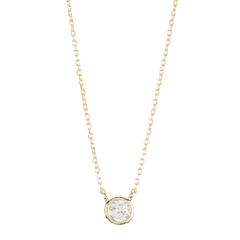 Open Circle Pavé CZ Necklace