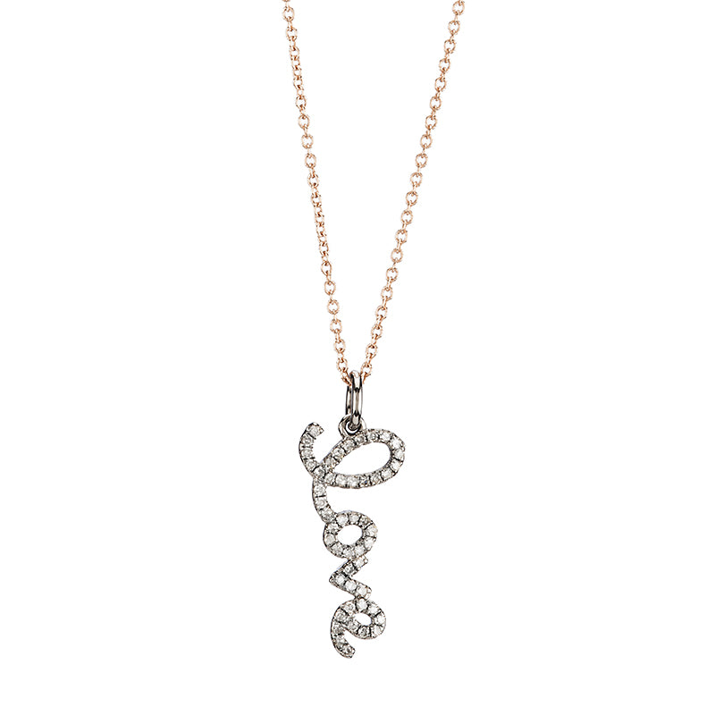 Brooklyn Diamond Love Necklace-Necklace-Ashley Schenkein Jewelry Design