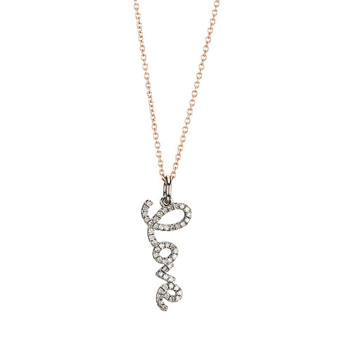 Diamond Pavé Evil Eye Necklace, 14k