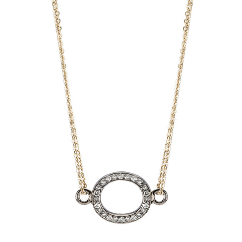 Brooklyn Diamond Open Oval Necklace