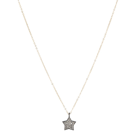Brooklyn Diamond Pavé Medium Star Necklace