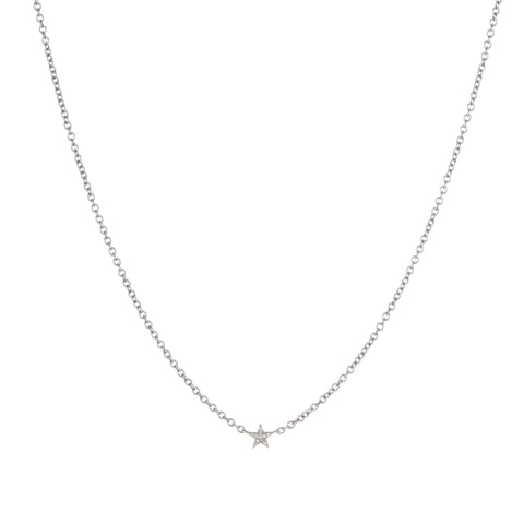 Brooklyn Diamond Pavé Mini Star Necklace