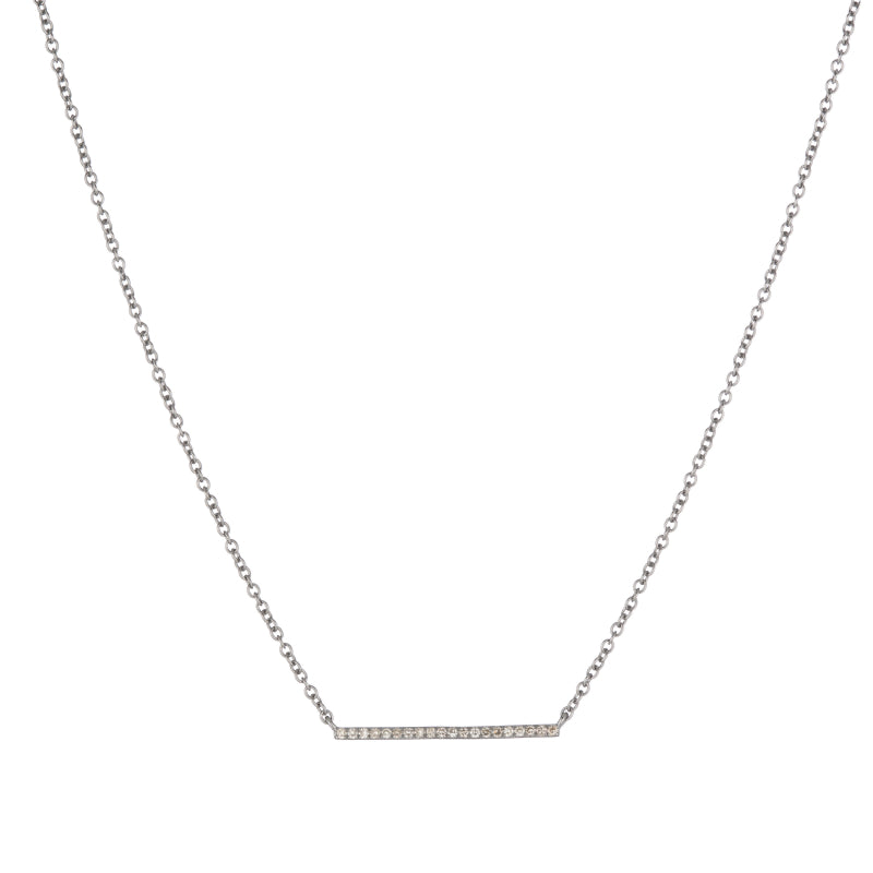 Brooklyn Diamond Pavé Bar Necklace-Necklace-Ashley Schenkein Jewelry Design