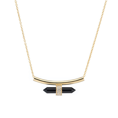 Montreal Drop Paperclip Necklace