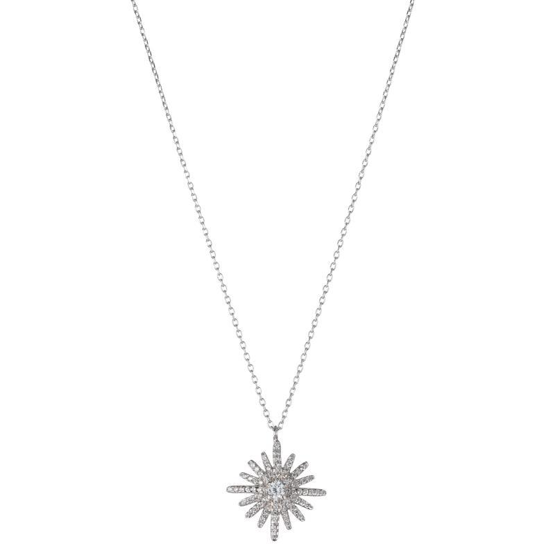 Melrose CZ Pavé Starburst Necklace-Necklace-Ashley Schenkein Jewelry Design