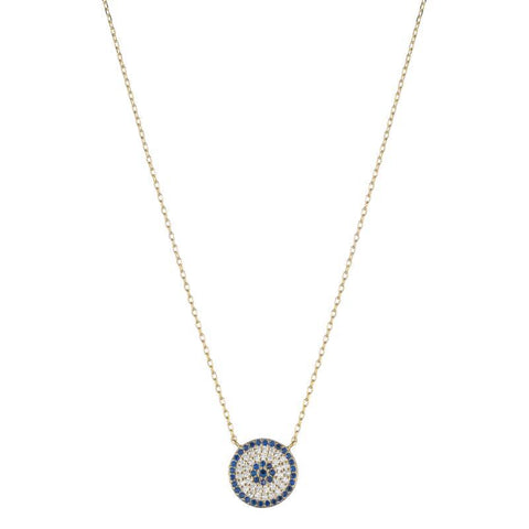Melrose CZ Pavé Evil Eye Necklace