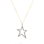 Brooklyn Open Star Diamond Pendant Necklace-Necklace-Ashley Schenkein Jewelry Design