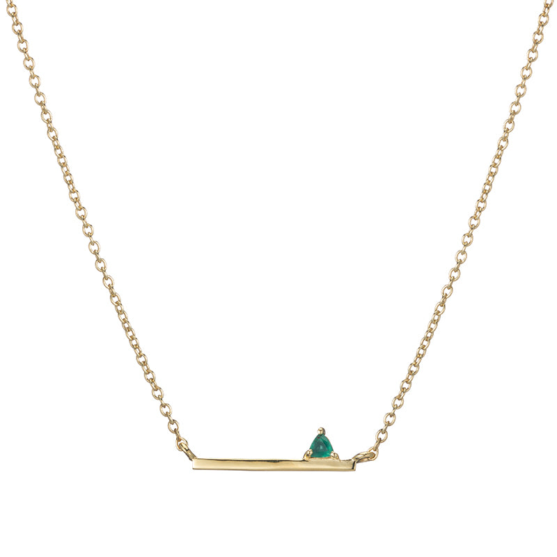 Denver Mini Bar and Trillion Gemstone Necklace-Necklace-Ashley Schenkein Jewelry Design