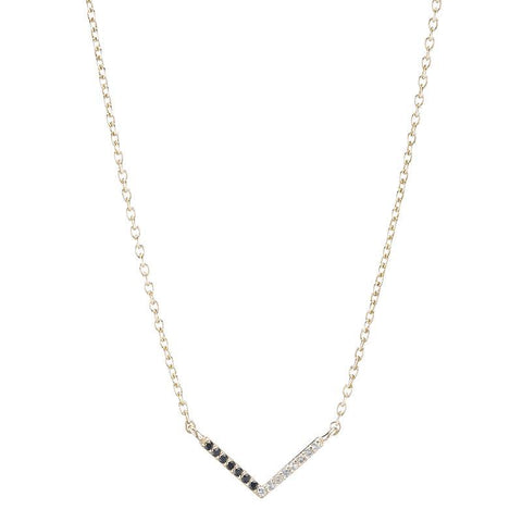 Portland Pavé Chevron Necklace