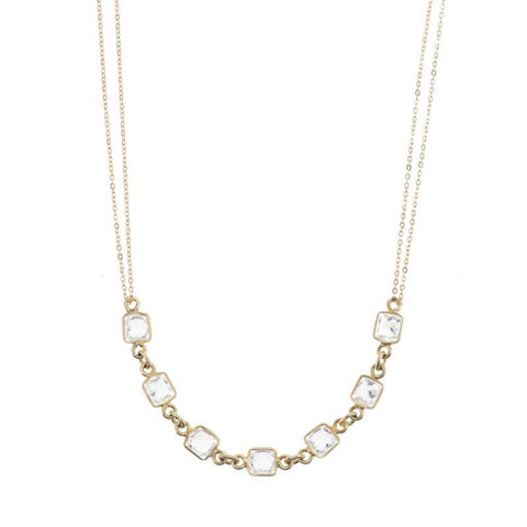 Buenos Aires Diamond Cut Chain and Gemstone Necklace